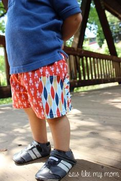 Boy's and Girl's Sycamore Shorts Pattern in sizes 12 m to 8, free