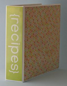 Are recipes cluttering up your kitchen? Create a customized recipe binder.