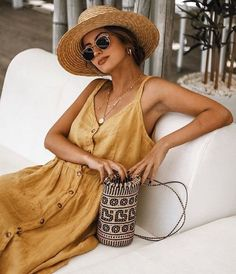 20 Trendy Womens Fashion For Summer Sundresses Clothes Outfits With Hats, Mode Outfits, Fashion Outfits, Womens Fashion, Fashion Trends, Preppy Outfits, Fashion Ideas, Beach Outfits, Latest Fashion