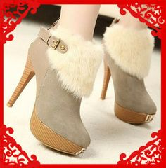 2013 fashion fur female knight woman sexy ankle high heel boots, winter boots for women and ladies autumn winter shoes $38.98 http://paradiseinternetmall.net/