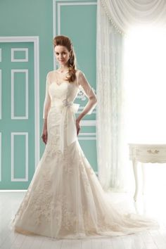 Jasmine Bridal - Style Strapless sweetheart Tulle and Organza dress features long sleeve sheer jacket. Can also be order as without Jacket. Pictured in Ivory/Gold. Cheap Lace Wedding Dresses, 2016 Wedding Dresses, Wedding Dresses Photos, Wedding Dress Styles, Dresses 2013, Wedding Gowns, Bridal Gown Styles, Bridal Style, Bridal Gowns