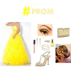 """#PROM - yellow & gold"" by louiselulle4 on Polyvore!"