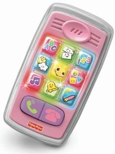 Purchased- Amazon.com : Fisher-Price Laugh and Learn Smilin Smart Phone, Pink : Pink Toy Cell Phone : Toys & Games
