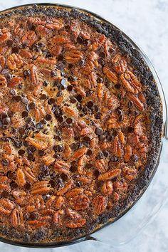 Chocolate Chip Pecan Brownie Pie—Happy Pi(e) Day!