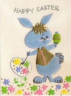 vintage Easter rabbit card