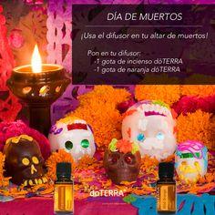 Usa el aroma de aceites esenciales doTERRA para aromatizar el altar de muertos con Incienso y Naranja. Visita nuestra tienda en línea, hacemos envíos a todo México. Quiero formar parte de doTERRA? Adquiere tu membresía en nuestro sitio