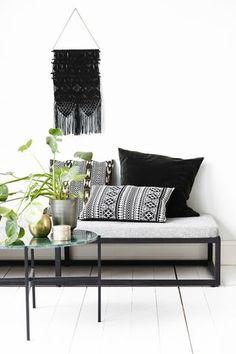 Scandinavian apartment with oversized watercolor art | Decordots | Bloglovin'