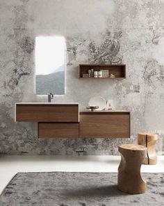 Meuble de salle de bain en bois avec vasque intégrée – 20 exemples irrésistibles