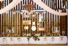 I love the picture frames behind the bridal table.  This will also help make the space seem larger.