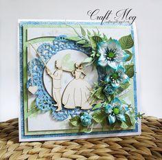CraftMeg, Wedding card with flowers