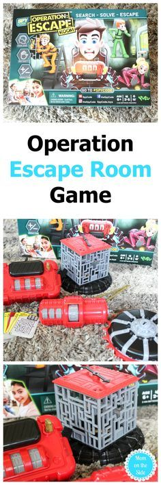 From YULU Toys, Operation Escape Room is a new interactive game that taps into the escape room trend by combining skill, strategy, and teamwork to search, solve and escape the room before time runs out! You work together to complete three tasks in order to set the captured player free of the master belt before time runs out. #games #escaperoom #gift #giftideas #christmas #christmasgifts