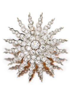 Platinum, Gold and Diamond Brooch, Circa 1900