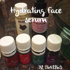 This morning I'm making a face serum and a sunscreen (i'll share that recipe with you soon). This face serum is extremely hydrating and great alone or under makeup. I use 1 oz red raspberry oil as the base, add 1/2 tsp jojoba oil, then add 7 drops each of tea tree, frankincense, peppermint, and lavender. This serum also helps me with a small scar I have and my hyperpigmentation. Email me if you are interested in purchasing a Premium Starter Kit! sorayaessentialoils@gmail.com