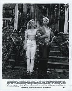 "1981 Press Photo Cathy Moriarty & Dan Aykroyd in ""Neighbors"" - Historic Images"