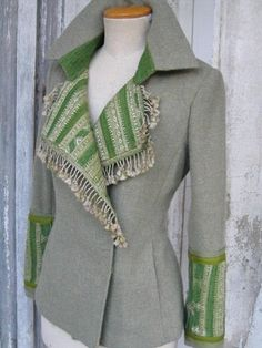 New Diy Crafts : Indalia Fashion - Asian and Italian fabrics combined with Italian tailoring Altered Couture, Altering Clothes, Cycling Outfit, Diy Clothing, Mode Inspiration, Diy Fashion, Fashion Clothes, Blazers, My Style