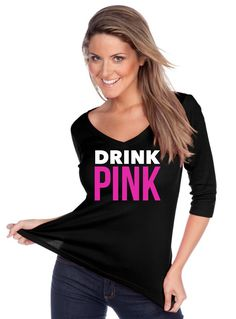 Glam Drink Pink Custom Glitter Shirt - Share the PINK DRINK -- NEW Item!! by FreshBakedApparel on Etsy