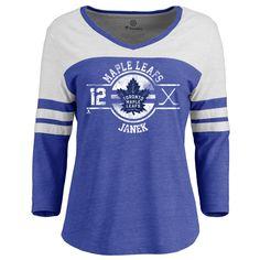 Toronto Maple Leafs Fanatics Branded Women's Personalized Insignia Colorblock Three-Quarter Sleeve Tri-Blend T-Shirt - Royal Toronto Maple Leafs, Color Blocking, Quarter Sleeve, T Shirts For Women, Mars 2018, Sweatshirts, Tees, Long Sleeve, Mens Tops