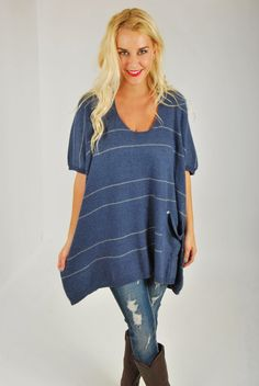 This oversized sweater is absolutely to die for.   She's too good to be true!   You'll understand the quality behind this color block sweater once you feel the softness.  Dolman, box fit.  Oversized front pocket with a deep V, and button pick up sides.  We love oversized around here, and she's perfect with leggings and boot.  Made from […]