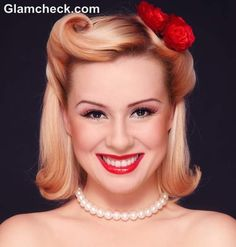 pin up hairstyles | 50s Retro Pin Up Hairstyle & Makeup Look