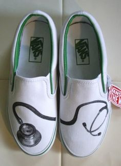 Stethoscope Vans…for all the medical personnel in your life. Stethoscope Vans…for all the medical personnel in your life. Custom Design Shoes, Custom Vans, Custom Shoes, Respiratory Therapy, Nursing Shoes, Medical Assistant, Medical Humor, Med Student, Medical Field