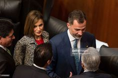 Queen Letizia (L) and King Felipe VI of Spain (R), look on after a speech aimed to the members of Mexican Senate at Senate on June 30, 2015 in Mexico City, Mexico. The Spanish Monarchs are in their second state visit since the proclamation of Felipe VI as Spanish King last June 19th of 2014.