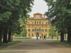 """On the other side of the river from the center of town, known as the """"Oltretorrente""""there is a beautiful and peaceful park: Parco Ducale, the park of the Dukes of Parma, here through the trees you can see the Palazzo. It was a great spot to ride your bike, sit and sun bathe or read a book."""