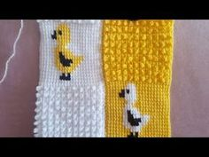 Baby Afghan Crochet, Tunisian Crochet, Knit Crochet, Granny Square Projects, Hobby Tools, Crochet Videos, Baby Knitting, Crochet Projects, Diy And Crafts