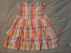 Vestido de Niña, talla 6-9 meses.Por 14 puntos Creciclando.  #niñas #vestido #cuadros #trueque                                             Vestido talla 6 meses