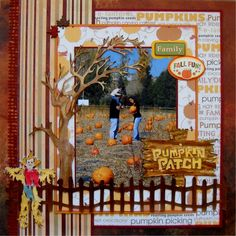 Pumpkin Patch - what a cute page!