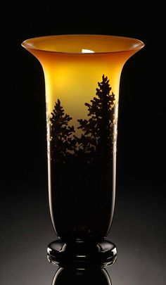Pine Vase in topaz color by Bernard Katz