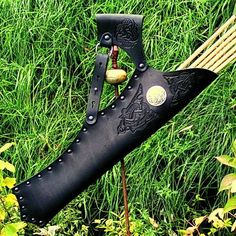 with design - Available on ETSY by Pera Peris - The House of History Archery Quiver, Archery Gear, Arrow Quiver, Archery Bows, Archery Equipment, Archery Hunting, Bow Hunting, Archery Targets, Leather Quiver