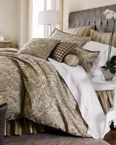 Jane Wilner Dylan Bed Linens Paisley Standard Sham - traditional - sheet sets - Horchow