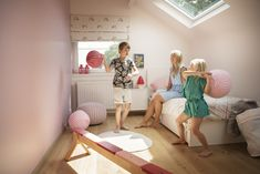 Even smaller rooms can be turned into playrooms with VELUX roof windows shedding light on the fun Loft Playroom, Roof Window, Playrooms, Toddler Bed, Home And Garden, Windows, Fun, Furniture, Beautiful
