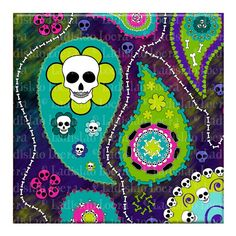 Day of the Dead Paisley by Ladislao Loera