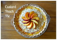 Custard Peach Pie Ingredients  one single pie crust pastry (half recipe) 5 medium sized peaches (about 1 1/2 lbs) 1 cup (8 oz) Greek Yogurt or labne 3 large egg yolks 3/4 cup (6 oz) sugar 1/4 cup (2 oz) flour 1 tsp. vanilla Streusel Topping 1/4 cup (half stick) (2 oz) butter 1/3 cup (3 oz) flour 1/8 cup (1 oz sugar) Oven temperature 425ºF (220ºC)