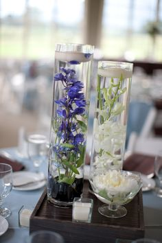 orchid wedding table centerpiece- wrong flower but pretty :) Picture Wedding Centerpieces, Wedding Arrangements, Wedding Table Centerpieces, Wedding Table Settings, Centerpiece Decorations, Wedding Reception Decorations, Wedding Ideas, Bridal Table, Wedding Tables