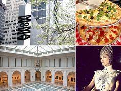 ニューヨークブランドのPRをはじめ、アートのプロジェクトなども関わる機会が多いことから、年に4~6回は出張に行くという杉山さん。「エネルギーがあって刺激的な街でありながら、ローカルでオーガニックな雰囲気も漂う魅力的な場所」。そんな大好きなNYをマッピング。 ■MOMA(写真左上)http://www.moma.org/「私の叔父、谷口吉生の建築によるニューヨークのランドマーク。何度訪れても新しい発見のあるミュージアムは、マチスやピカソなどのグレートアートから、話題の企画展まで、オフの日こそゆっくり見て回りたいです。モダンアートを堪能し中庭で寛いだあと、レストランでグルメを楽しんだり、ミュージアムショップでお買い物をしたい!」photo : GettyImages ■GRIMALDI'S PIZZERIA(写真右上)http://www.grimaldis-pizza.com/「友人から、『ピザを食べにいかない?』と、よく誘われるお店がこちら。大きな炭焼き釜戸で焼く香ばしいピザはやみつきに!」photo : courtesy of Grimaldi's Pizzeria via…