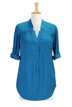 I <3 this Tunic style crepe shirt from eShakti