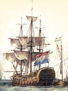 Linieschip 'Delft' van 50 stukken  naar het ontwerp van de Rotterdamse scheepsbouwer Pieter van Zwijndregt.