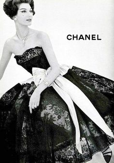 1950s Chanel  via http://kristinayanson1.tumblr.com/  Love '50s & back dressed, WOW,  real feminan beauty!!!!