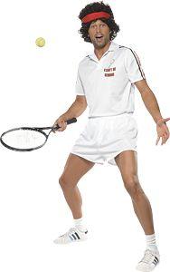 John Mcenroe Style Fancy Dress Costume For Wimbledon Tennis And Sport Themed Parties Sanc01631 80s Fancy Dress Tennis Halloween Costume Childrens Fancy Dress