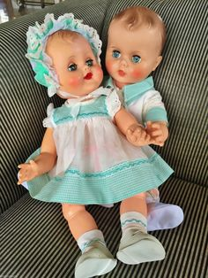 Vintage 1950 AE Allied Eastern Boy & Girl Doll