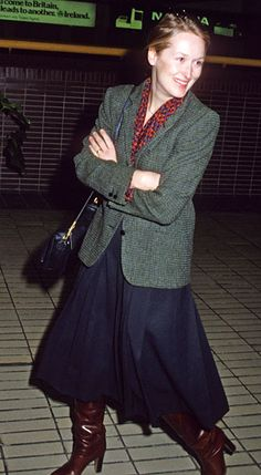 At Heathrow International Airport in London, 1980