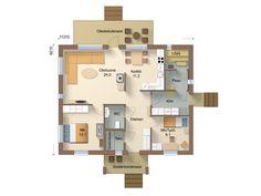 T90-10 - Jukkatalo Floor Plans, Floor Plan Drawing, House Floor Plans