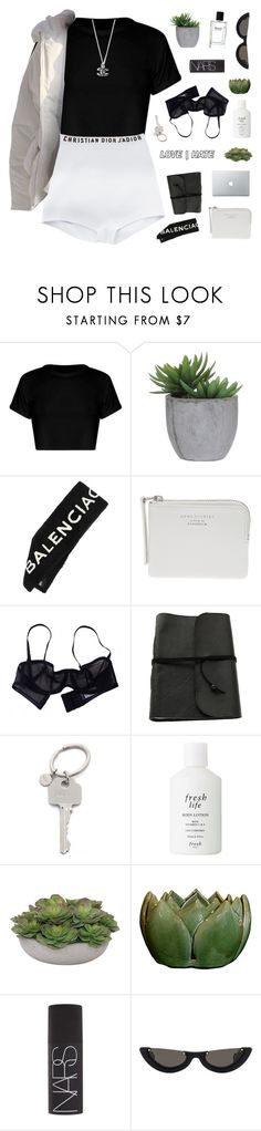 """ryd"" by thenewgirl3 ❤ liked on Polyvore featuring Lux-Art Silks, Balenciaga, Acne Studios, Eres, Paul Smith, Fresh, NARS Cosmetics and PAWAKA"