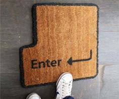 Enter Key Doormat - $27.95 - I could see Catti and I decorating our apartment with a bunch of nerdy stuff like this.