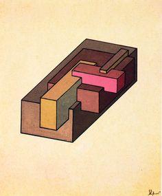 Chernikhov, Complex Configurations of Transparent Figures, 1927
