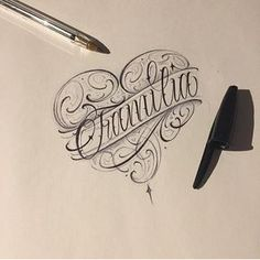 Photo shared by Lettering/Tattoo C/L on May 2019 tagging Chicano Tattoos Lettering, Tattoo Lettering Design, Graffiti Lettering Fonts, Graffiti Tattoo, Tattoo Lettering Fonts, Tattoo Design Drawings, Tattoo Script, Hand Lettering, Doodle Tattoo