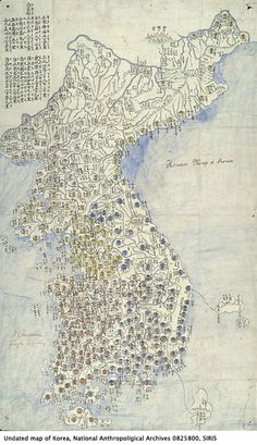 Undated map of Korea. National Anthropological Archive, Smithsonian Institution