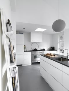 White and black kitchen.